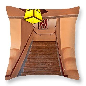 Painted Desert Inn Interior Throw Pillow by Bob and Nancy Kendrick