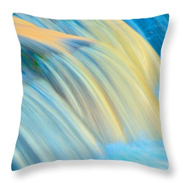 Painted Falls Throw Pillow