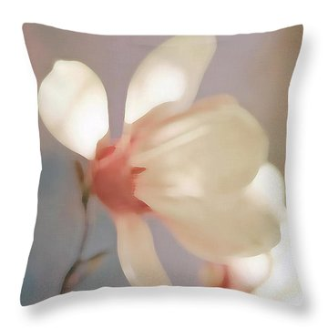 Painted Flower Throw Pillow