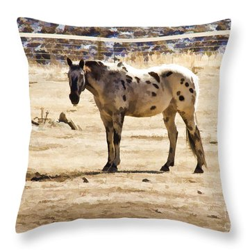 Painted Horses II Throw Pillow