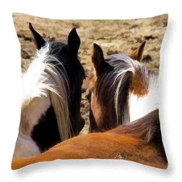 Painted Horses IIi Throw Pillow