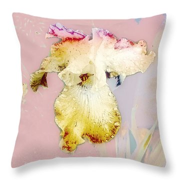 Painted Iris Throw Pillow