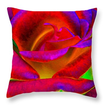 Painted Rose 1 Throw Pillow by Will Borden