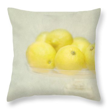 Painterly Lemons Stilllife Throw Pillow