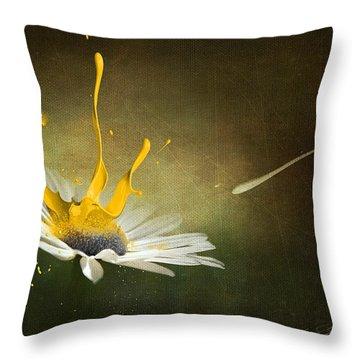 Painting Daisy Throw Pillow by Svetlana Sewell