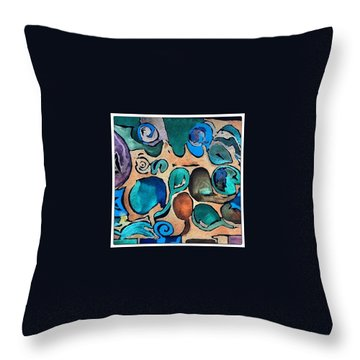 Circles Of Colors.... Throw Pillow