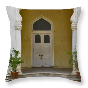 Throw Pillow featuring the photograph Palace Door by David Pantuso