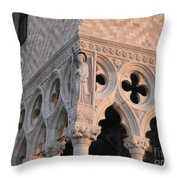 Palace Ducal. Venice Throw Pillow by Bernard Jaubert