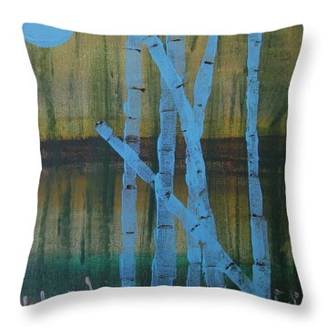 Pale Blue Moon Throw Pillow