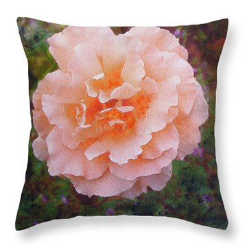 Pale Orange Begonia Throw Pillow by Richard James Digance