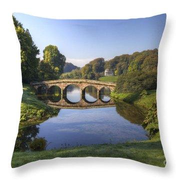 Palladian Bridge At Stourhead. Throw Pillow