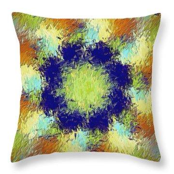 Pallet Of Colors Throw Pillow by Deborah Benoit