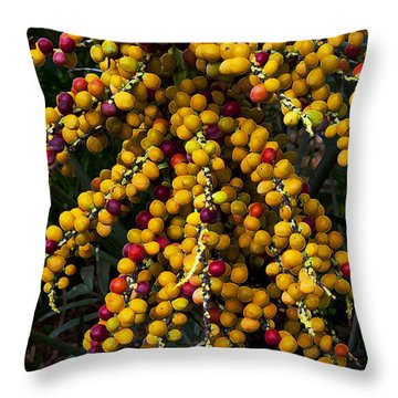 Palm Seeds Baroque Throw Pillow by Steven Sparks