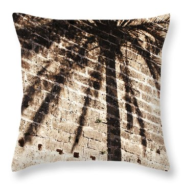 Palm Shadow Throw Pillow