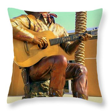 Palm Springs Gene Autry 2 Throw Pillow