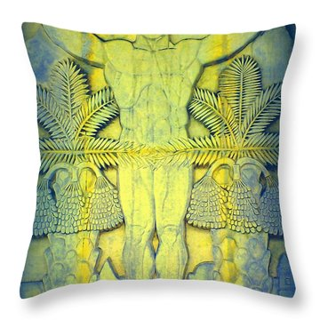 Palm Springs Mural Two Throw Pillow by Randall Weidner