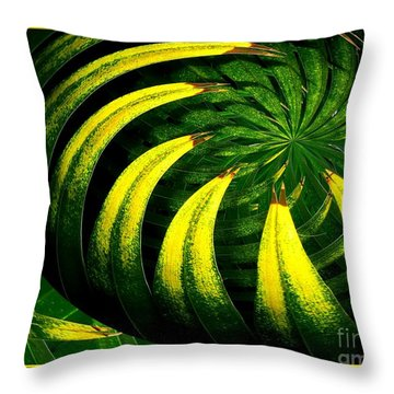 Palm Tree Abstract Throw Pillow by Rose Santuci-Sofranko