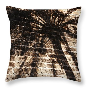 Palm Tree Cup Throw Pillow