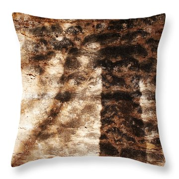 Palm Trunk Throw Pillow