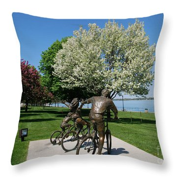 Palmer Park In Spring 2 Throw Pillow