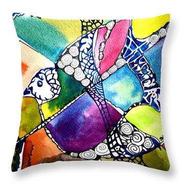 Paloma Viajera Throw Pillow