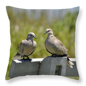 Palomas Throw Pillow