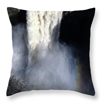 Throw Pillow featuring the photograph Palouse Falls by Sharon Elliott
