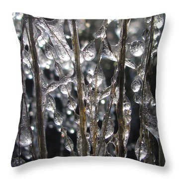 Palpable Throw Pillow by Tina Marie