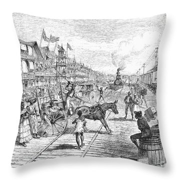 Panama Railway, 1888 Throw Pillow by Granger