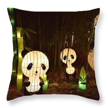Pandamonium Throw Pillow by William Fields