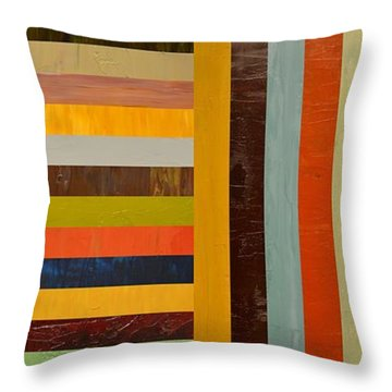 Panel Abstract - Digital Compilation Throw Pillow by Michelle Calkins