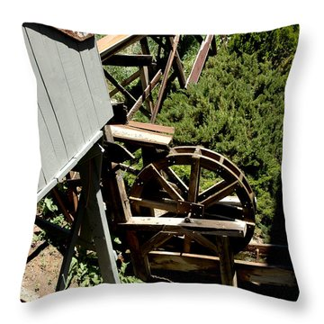 Panning For Gold In Virginia City Nevada Throw Pillow by LeeAnn McLaneGoetz McLaneGoetzStudioLLCcom