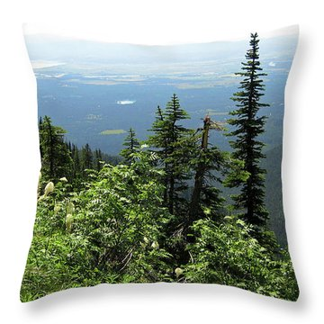Panoramic Jewel Basin Montana Throw Pillow