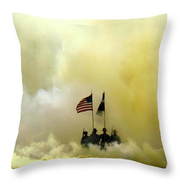 Panoramic Us Army Graduation Throw Pillow