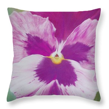 Pansy I Throw Pillow by Loueen Morrison