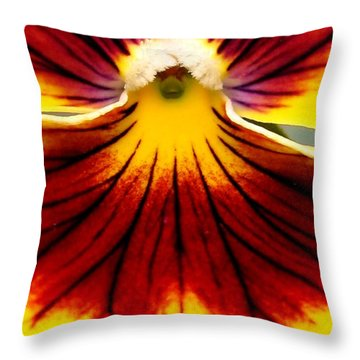 Pansy Named Imperial Gold Princess Throw Pillow by J McCombie