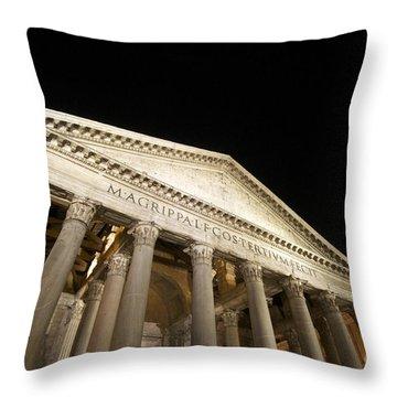 Pantheon At Night. Rome Throw Pillow