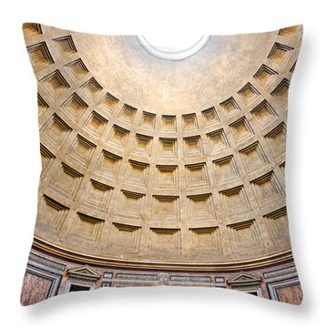 Throw Pillow featuring the photograph Pantheon  by Luciano Mortula