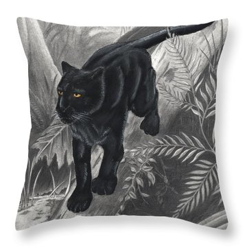 Panther By The Water Throw Pillow