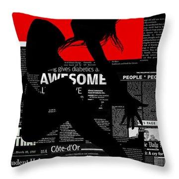 Paper Flight Throw Pillow by Naxart Studio