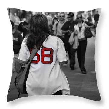 Paps Biggest Fan Throw Pillow by Greg DeBeck