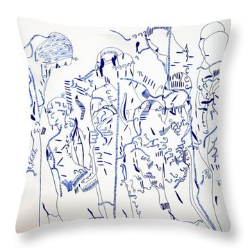 Parable Of The Ten Virgins Throw Pillow by Gloria Ssali