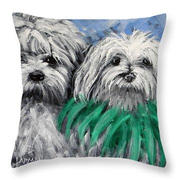 Parade Pups Throw Pillow
