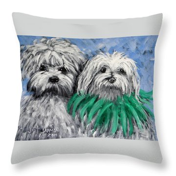 Parade Pups Throw Pillow