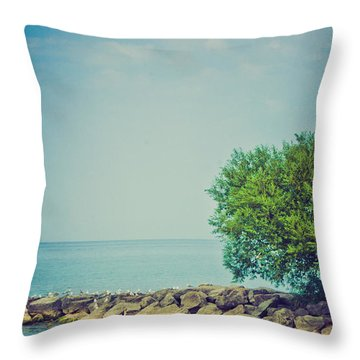 Throw Pillow featuring the photograph Paradise Cove by Sara Frank