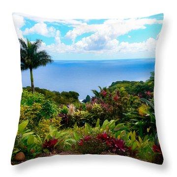 Paradise Found Throw Pillow by Debbie Karnes