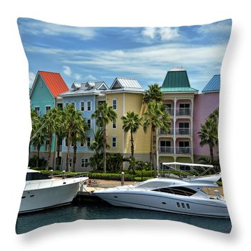 Paradise Island Style Throw Pillow by Steven Sparks