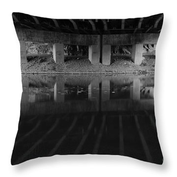 Parallel Universe Throw Pillow by Luke Moore