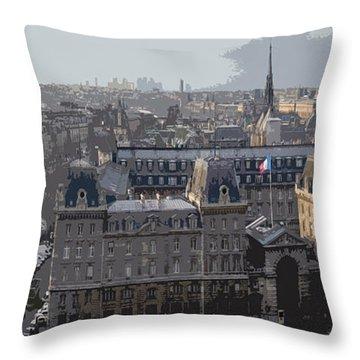Paris 01 Throw Pillow by Yuriy  Shevchuk