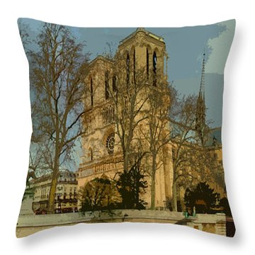 Paris 03 Throw Pillow by Yuriy  Shevchuk